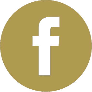 Facebook icon golden